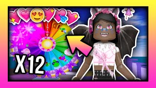 SPINNING THE WHEEL FOR 12 DAYS! 👑| Royale High Roblox 💖