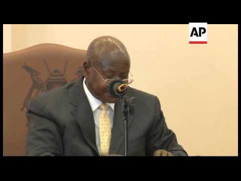 Uganda - Uganda's president signs controversial anti-gay bill /  newspaper prints list of '200 top'