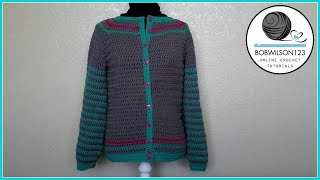 Adult Crochet Cardigan Part 1 of 3