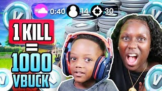 1000 FREE V BUCKS! Fortnite: Battle Royale w/ My 6 Year Old Son! (EXTREMELY FUNNY)