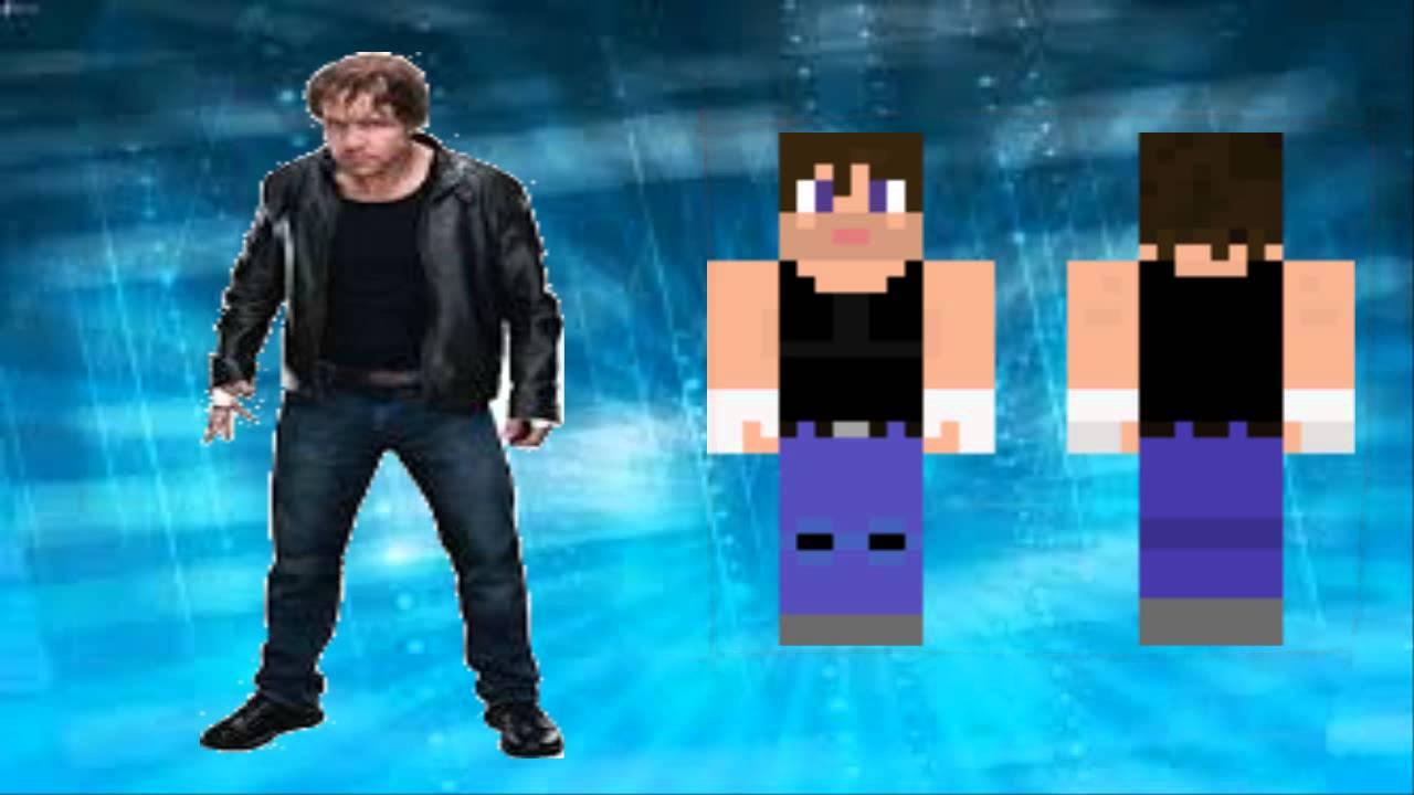 SKIN DE WWE PARA MINECRAFT AJ STYLES Y DEAN AMBROSE LINK YouTube - Skins para minecraft de wwe
