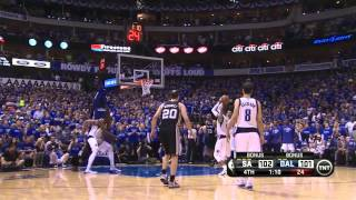 Repeat youtube video San Antonio - Dallas 108 - 109: final minutes and Vince Carter Buzzerbeater | Playoffs 2014 | Game 3