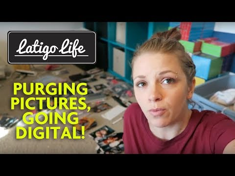 How I Organize and Digitize My Thousands of Pictures || New Year's Decluttering Project