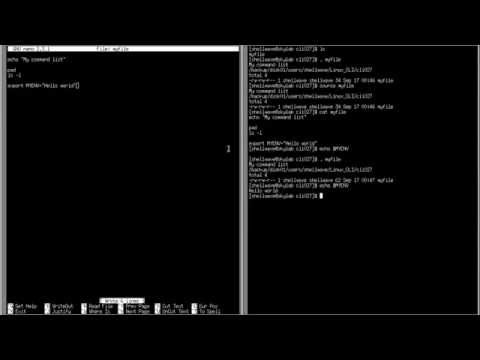 """Linux Command-Line Interface (CLI) Tutorial #027 - dot operator and """"source"""" command"""