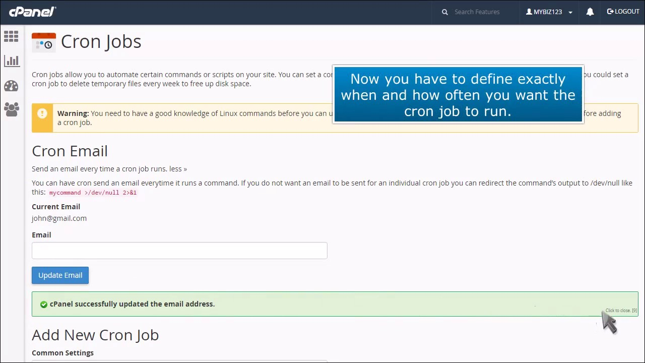 Video: Using Cron Jobs to Automate Tasks in cPanel - Knowledgebase