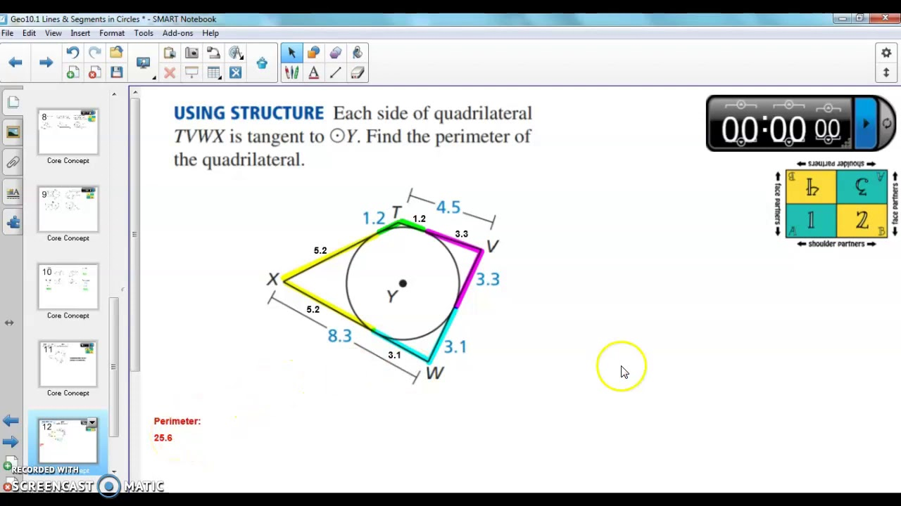 Geo10.1-10.2 Circles, Tangents, Angles, and Arcs - YouTube