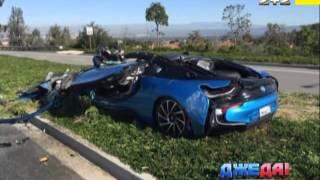 Видео   BMW I8 лоб в лоб встретился с бетономешалкой   Автоновости   Страница Видео   ТСНua 1(, 2016-03-16T15:55:27.000Z)