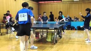 1st Esperanza Pairmatch卓球大会 女子ペア 準優勝組vs第三位組戦