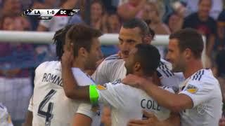LA Galaxy's Zlatan Ibrahimovic strikes a stunning volley