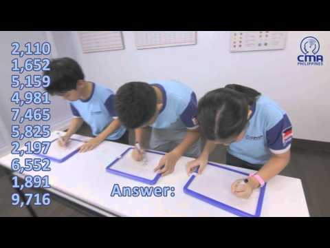 CMA Philippines Students - Amazing Mental Arithmetic Skill