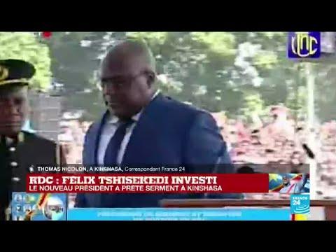 RD Congo : la cérémonie interrompue après un malaise du nouveau président