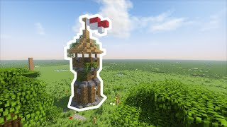 Minecraft - How To Build: Small Medieval Watchtower