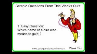 Free Quiz Questions - Week Two Samples