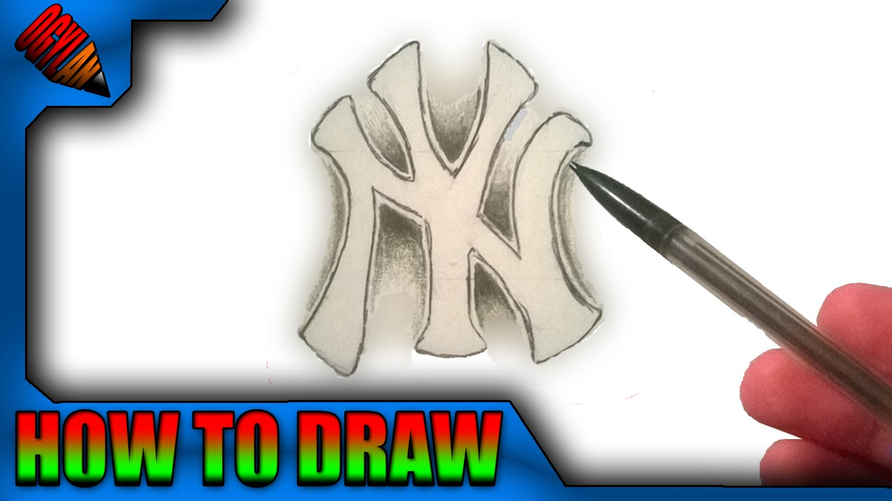 How to draw the ny logo in 3d step by step easy youtube biocorpaavc