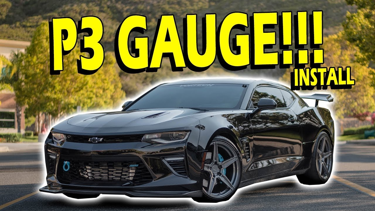 6th Gen Camaro >> P3 Gauge Install Overview 6th Gen Camaro