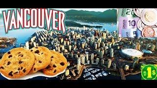 Vancouver - primeiros dias  cookies  Canadian Dollars