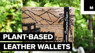 Leather-like wallet made from banana plant fibers