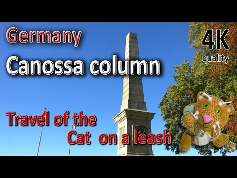 "Canossa. Obelisk. ""We do not go to Canossa."" Harz. Travel of the Cat  on a leash."