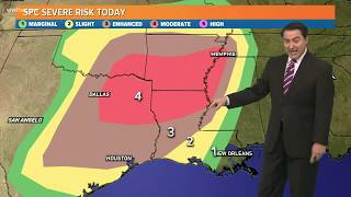 Significant chance of severe weather - tornadoes, storms Saturday in south Louisiana