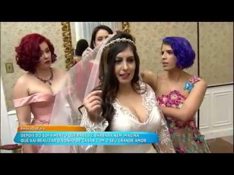 Após Desfilar Vestida De Noiva, Bárbara Se Casa Com Robson No Palco Do Hora Do Faro