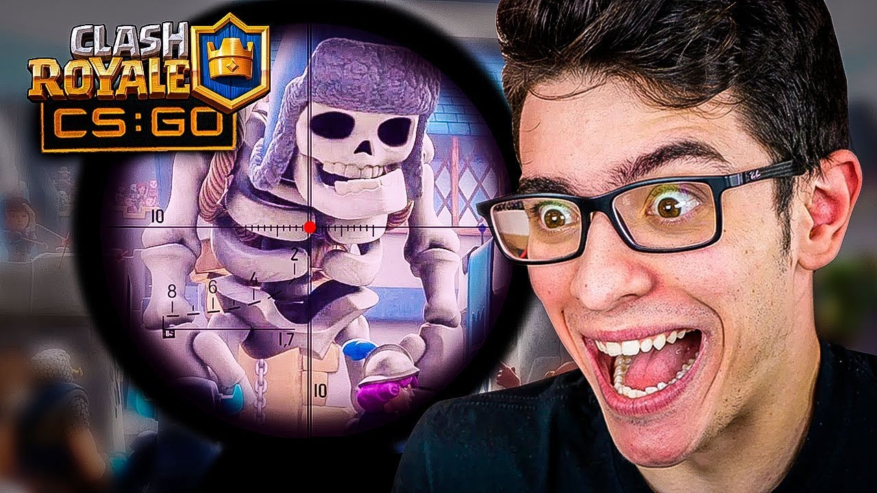 JOGUEI COUNTER STRIKE NO MAPA DO CLASH ROYALE COM ATCHIIN, RAFA E 1BIEL!