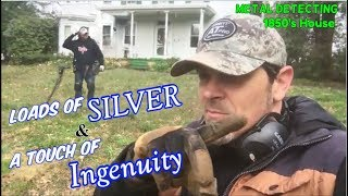 Ingenuity! - Rolling in Silver & Relics Metal Detecting an 1850