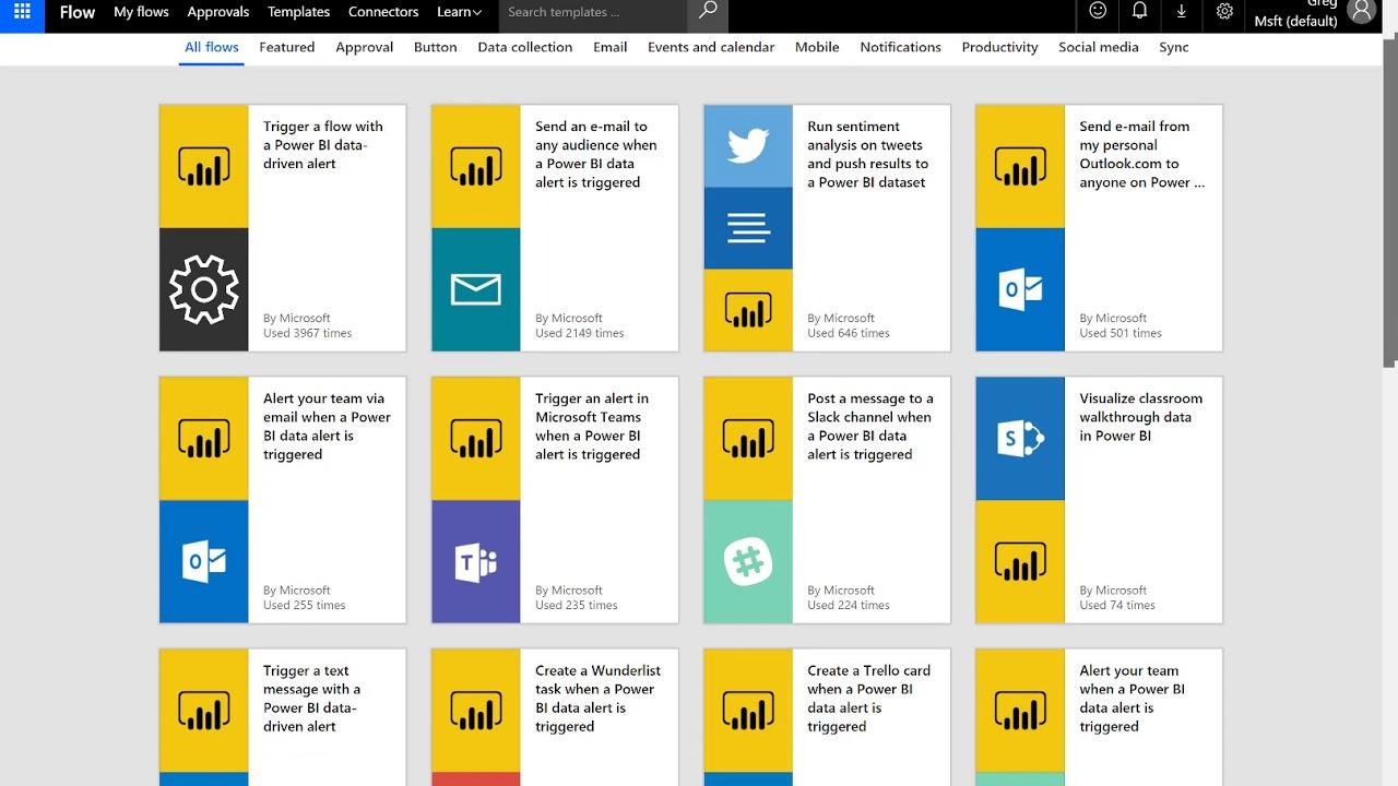 Use Microsoft Flow to Distribute Power BI Alerts via Email