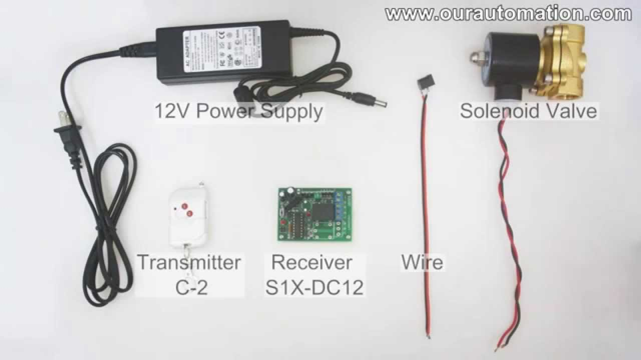 how to remote control dc12v solenoid valve youtube12 volt air valve wiring diagram 9 [ 1280 x 720 Pixel ]