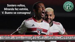 São Paulo 3x2 Guarani - Pós Jogo / ESTRÉIA DO MIRANDA