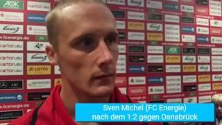 Sven Michel nach Gelb-Rot gegen Osnabrück