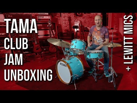 Let's unbox the TAMA Club Jam and Lewitt Beat Kit 7 Mics