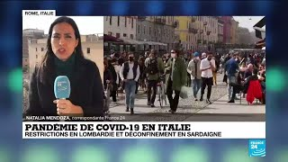 Covid-19 en Italie : restrictions en Lombardie et déconfinement en Sardaigne