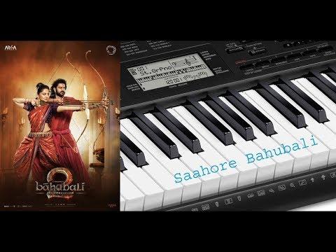 Saahore baahubali song in keyboard tutorial