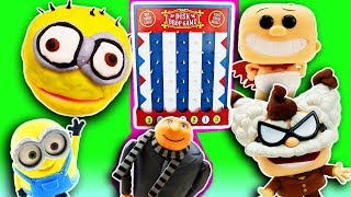 Despicable Me 3 Disk Drop Game! Fidget Spinner, Drill N Fill Minion Jerry, Gru & Captain Underpants
