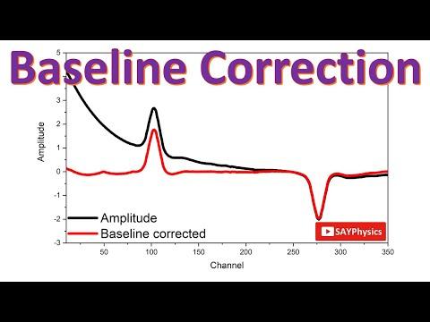 How to subtract baseline in Origin