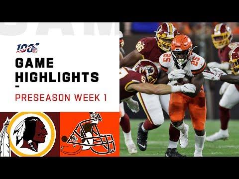 Redskins vs. Browns Preseason Week 1 Highlights | NFL 2019