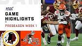 Redskins vs. Browns Preseason Week 1 HighlightsNFL 2019