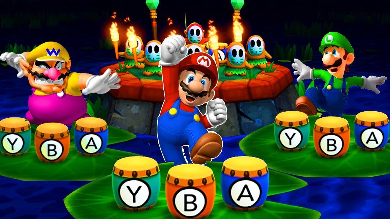 Mario Party The Top 100 Minigames - Mario vs Yoshi vs Wario vs Luigi