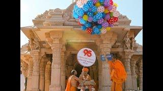 Morning Darshan - Pramukh Swami Maharaj's 95 Janma Jayanti Celebration, Sarangpur, India