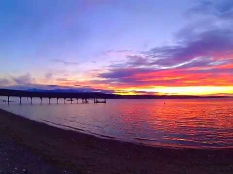 Awesome sunset on the Puget Sound in Washington state