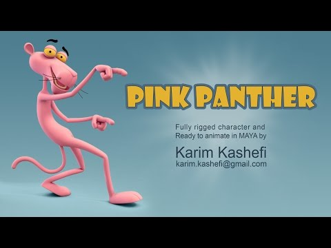 pink panther - fully rigged character - ready to animate by karim kashefi
