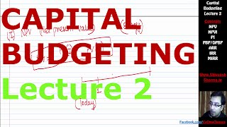 Capital Budgeting   Lecture 2  CA IPCC   By Shivansh Sharma   CMA  MBA  CS  Bcom