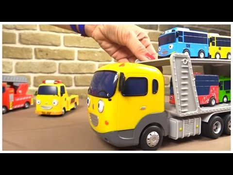 TAYO TOYS ⭐︎TRANSPORTER Toy Demo! ⭐︎ 타요 Tayo the Little Bus & Gay Friends Игрушечный автовоз из Тайо