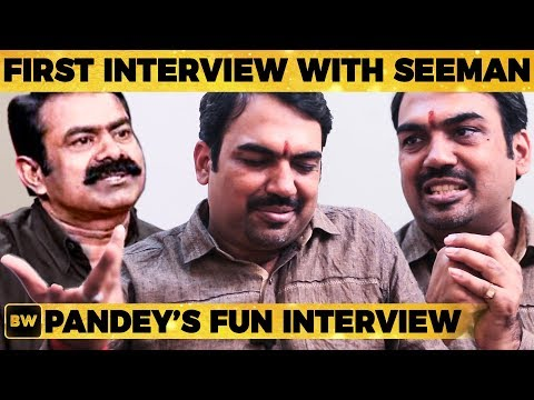 Pandey's First Interview with Seeman - Rangaraj Pandey's Tension Moment Revealed! | EN50