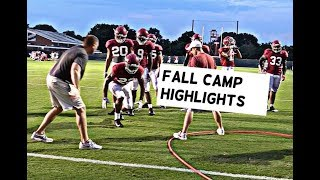 Watch Alabama Football Fall Camp Highlights, Quarterbacks Tua Tagovailoa, Jalen Hurts, and More