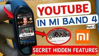 Mi band 4 hidden feature | YouTube app mi band 4 | mi band 4 secret trick| Install apps in mi band 4