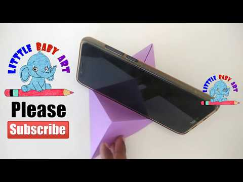 Paper Mobile stand | How To Make Paper Mobile Stand Without Glue | DIY Origami Phone Holder