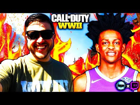 DEXB0T & DE'AARON FOX / SWIPATHEFOX (SACRAMENTO KINGS) COD WW2 LIVE STREAM GAMEPLY (COD WW2 STREAM)
