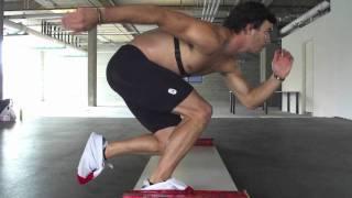 Kevin Jagger Speed Skating Dryland Training: Slideboard