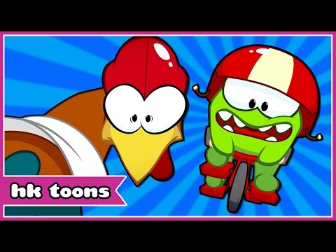 Om Nom Stories: CYCLE RACE | Around The World: Cut The Rope | Funny Cartoon | HooplaKidz Toons